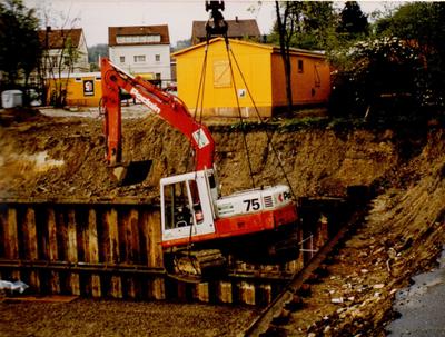 Bau der Tiefgarage in Ibbenbüren